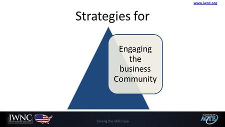 Www.iwnc.org Strategies for Engaging the business Community Solving the Skills Gap1.