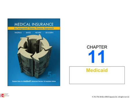 CHAPTER © 2012 The McGraw-Hill Companies, Inc. All rights reserved. 11 Medicaid.