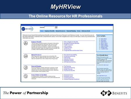 MyHRView The Online Resource for HR Professionals.
