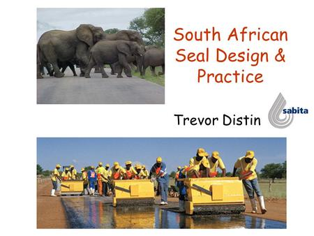 South African Seal Design & Practice Trevor Distin.