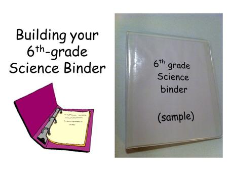 Building your 6th-grade Science Binder