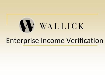 Enterprise Income Verification What is EIV? EIV brings together information for both the Social Security Administration and the Department of Health.