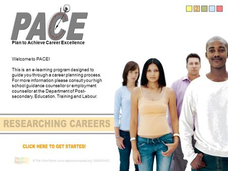 2 Plan to Achieve Career Excellence Welcome to PACE! This is an e-learning program designed to guide you through a career planning process. For more information.