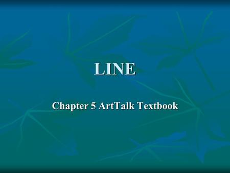 Chapter 5 ArtTalk Textbook