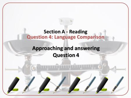 Approaching and answering Question 4