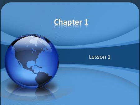 Chapter 1 Lesson 1.
