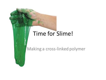 Making a cross-linked polymer