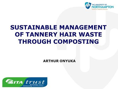 SUSTAINABLE MANAGEMENT OF TANNERY HAIR WASTE THROUGH COMPOSTING