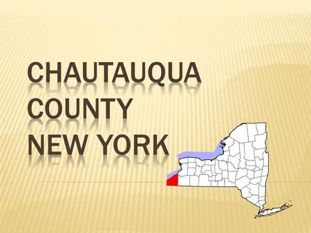 The aim of my study is to find the characteristics of a New York county and diagnose its environmental health. My county is Chautauqua County, NY. To.