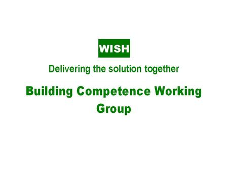 Group purpose Building the competence of the waste and recycling industry to improve health & safety performance.