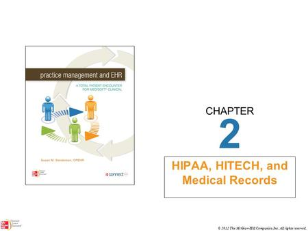 CHAPTER © 2012 The McGraw-Hill Companies, Inc. All rights reserved. 2 HIPAA, HITECH, and Medical Records.