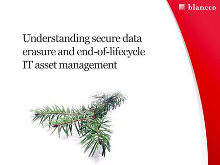 Understanding secure data erasure and end-of-lifecycle IT asset management.