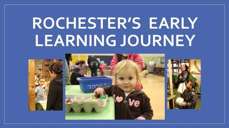 ROCHESTER'S EARLY LEARNING JOURNEY April 2014. Background Information Rochester Primary School Birth-Pre (46) K-2 nd (498) 160-190 K students per year.