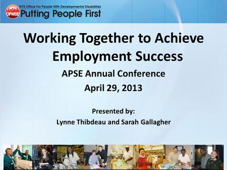Working Together to Achieve Employment Success