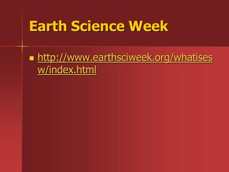 Earth Science Week  w/index.html  w/index.html