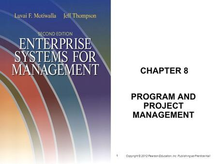 PROGRAM AND PROJECT MANAGEMENT