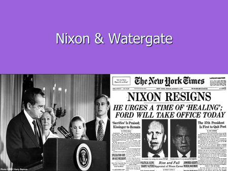 "Nixon & Watergate. The End for LBJ & American Liberalism Social Turmoil of the mid to late 1960's causes ""white backlash."" Social Turmoil of the mid to."