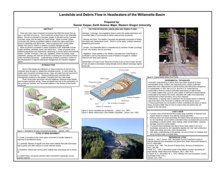 INTRODUCTION Much of the studies and literature on mass movement of soil and rock materials have focused on catastrophic landslide events. In many areas,