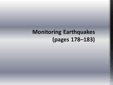 Instruments That Monitor Faults (pages 180–181)