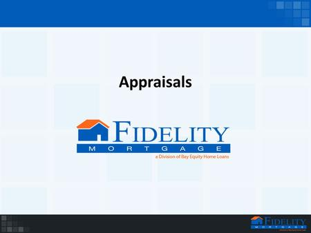 Appraisals. What is an Appraisal? The appraisal is a very lengthy document that gives all the details if the home and the appraisers opinion of it's value.