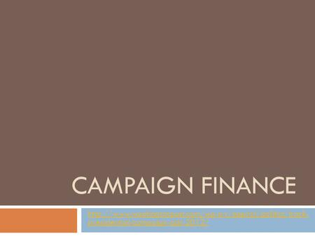 CAMPAIGN FINANCE  presidential-campaign-ads-2012/