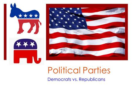 "Political Parties Democrats vs. Republicans. War on Terror / Iraq Democrats Position  ""Global Test"" will be required seeking permission from foreign."