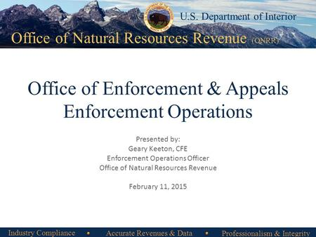 Office of Enforcement & Appeals Enforcement Operations
