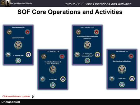 SOF Core Operations and Activities