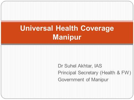 Universal Health Coverage Manipur