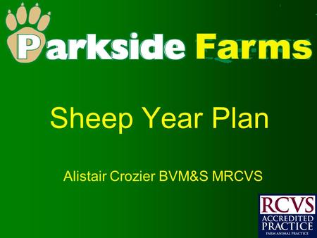 Sheep Year Plan Alistair Crozier BVM&S MRCVS. Sheep Basic Information Normal Temperature = 38.3-39.9 O C (100.9-103.8F) Heart Rate = 70-80 beats per minute.