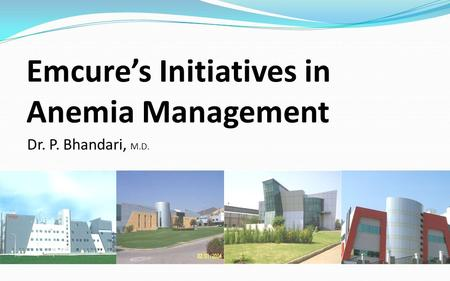Emcure's Initiatives in Anemia Management