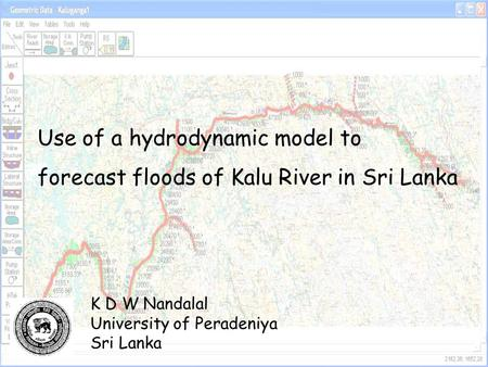 Use of a hydrodynamic model to