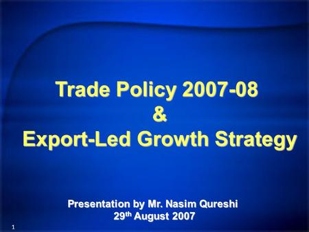 an export led growth strategy pakistan 2 introduction the purpose of this article is to reinvestigate exports-led growth hypothesis in pakistan after trade reforms in the period 1990-2008.