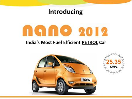 Introducing India's Most Fuel Efficient PETROL Car 25.35 KMPL.