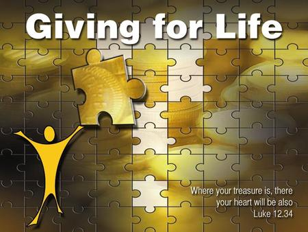 "Life Giving Giving starts with God Giving is at the heart of God's character. ""God gives what God is – his life. The gift is not a substitute for God."