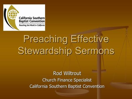 Preaching Effective Stewardship Sermons