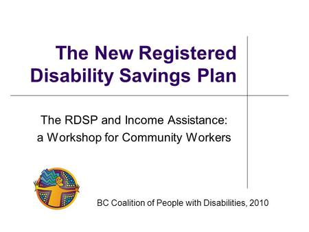 The New Registered Disability Savings Plan