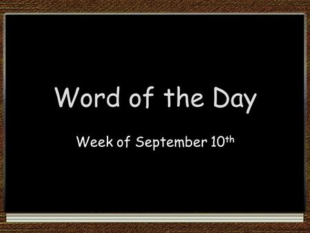 Word of the Day Week of September 10 th. abdomen: the part of the body that holds the stomach, intestines, and other organs Part of Speech: noun Which.