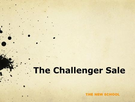 The Challenger Sale.