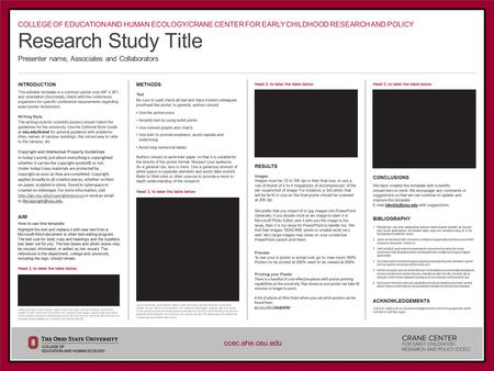 – – Research Study Title Presenter name, Associates and Collaborators INTRODUCTION This editable template is a common poster size (48 x 36) and orientation.