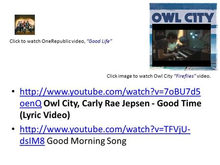 oenQ Owl City, Carly Rae Jepsen - Good Time (Lyric Video)  oenQ