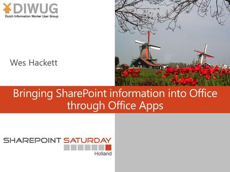 Bringing SharePoint information into Office through Office Apps.