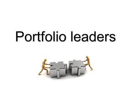 Portfolio leaders. Why? Portfolio Leaders are an essential requirement for the OGC Gateway™ authorised hub status held by CPD/CoE on behalf of the NICS.