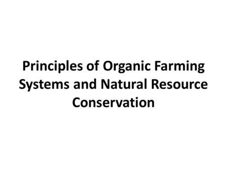 Principles Of Natural Resource Management Rutgers
