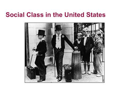 Social Class in the United States. What is Social Class? Property –Distinction Between Wealth and Income –Distribution of Property –Distribution of Income.