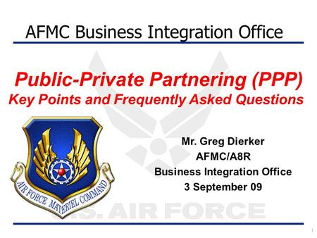 Public-Private Partnering (PPP)