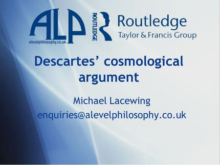 Descartes' cosmological argument