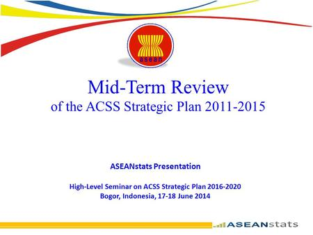 Mid-Term Review of the ACSS Strategic Plan