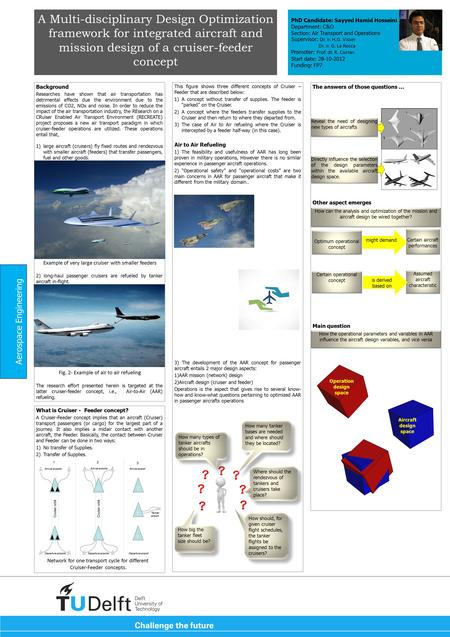 A Multi-disciplinary Design Optimization framework for integrated aircraft and mission design of a cruiser-feeder concept Background Researches have shown.