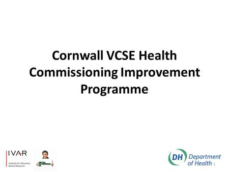 Cornwall VCSE Health Commissioning Improvement Programme 1.